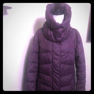 Like new purple puffy jacket long